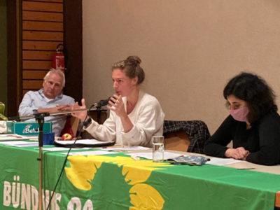 Britta Horn, OV Wolfgang Karch und die Landesvorsitzende Misbah Khan